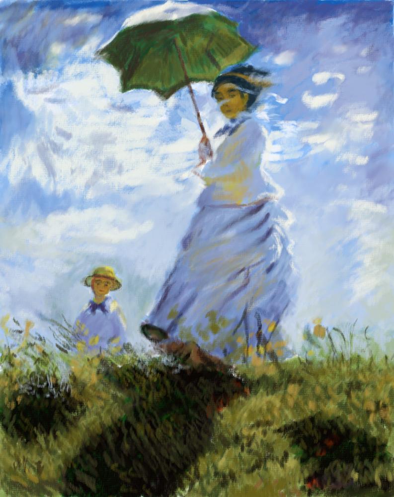 La Promenade By Monet Paintings