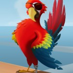 Pirate Parrot used for Fairway Solitaire card back